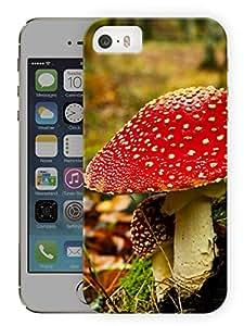 "Humor Gang Magic Mushrooms Printed Designer Mobile Back Cover For ""Apple Iphone 5-5S"" (3D, Matte, Premium Quality Snap On Case)"