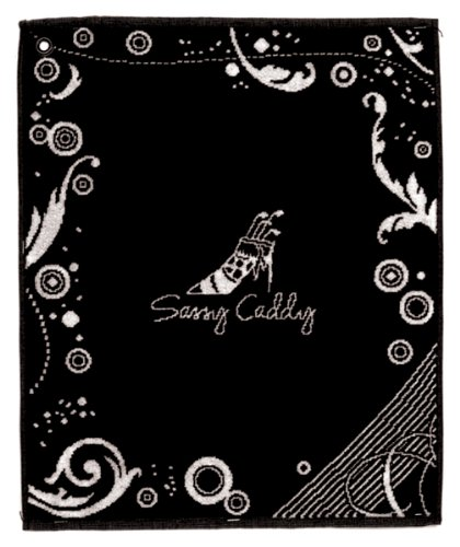 sassy-caddy-womens-golf-towel-black-white