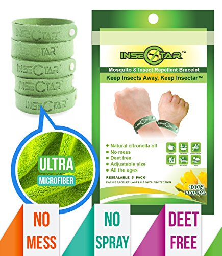 Insectar mosquito repellent bracelet 5 pack best pest for Mosquito dunks amazon