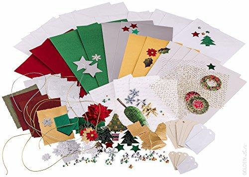 Bastelset weihnachten f r gru und einladungskarten for Bastelset weihnachten