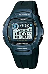 Casio Youth Digital Grey Dial Mens Watch - W-210-1BVDF (I064)