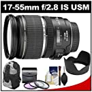 Canon EF-S 17-55mm f/2.8 IS USM Zoom Lens with Backpack + 3 UV/CPL/ND8 Filters + Lens Hood + Cleaning Kit for Canon EOS 7D, 70D, Rebel T3, T3i, T4i, T5i, SL1 Digital SLR Cameras