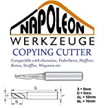 Napoleon Werkzeuge 8mm Copying Cutter Parallel Shank One Helical Cutting Edge