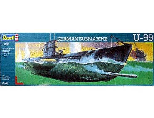 ドイツレベル◆ドイツ海軍 潜水艦U-99(U99) 1/125 プラモデルキット・5054