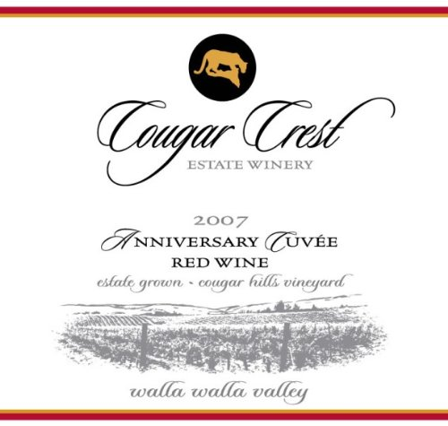 2007 Cougar Crest Anniversary Cuvee Walla Walla Valley Cougar Hills Vineyard Estate 750 Ml