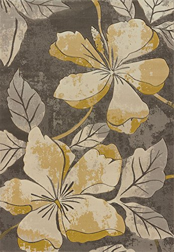 Contours Floral Canvas Grey 1'10