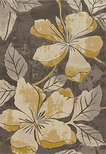 Contours Floral Canvas Grey 1'10