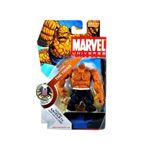 Marvel Universe 3 3/4 Inch Series 3 Action Figure #19 Thing Dark Pants White Belt by Hasbro Toys (English Manual)