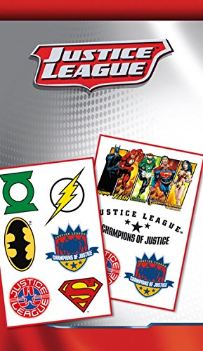 Set: Justice League Of America, Justice League Mix, DC Comics Set Tatuaggi (17x10 cm) e 1 Sticker sorpresa 1art1®