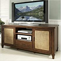 Big Sale Somerton Mesa TV Console in Medium Brown