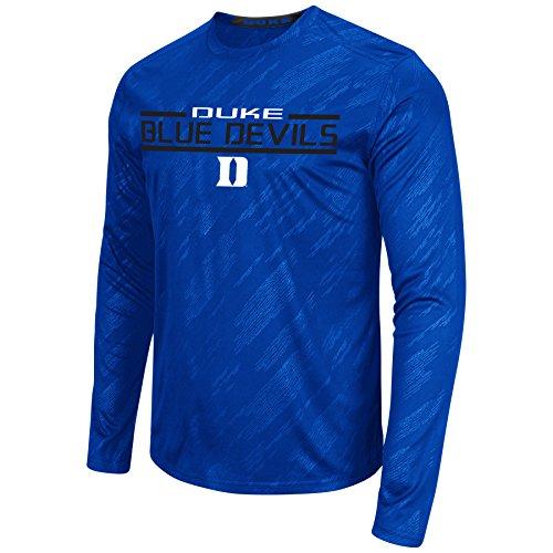 Colosseum NCAA Men's Sleet Embossed Long Sleeve Performance T-Shirt-Duke Blue Devils-Large (Devils T Shirt compare prices)