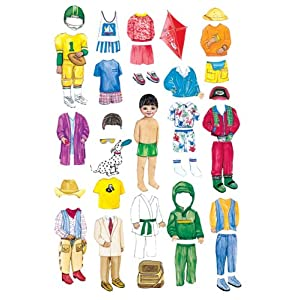Boy Felt Dolls-Set of 4 with extra clothes