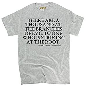 Henry David Thoreau T-shirts - There are a - Evil Tshirts Unisex-X-Large-Gray