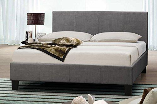 4FT6Doppelbett Bett Stoff grau Bett 135cm Doppelbett Modern oder in 4ft Small Double, grau, Doppelbett