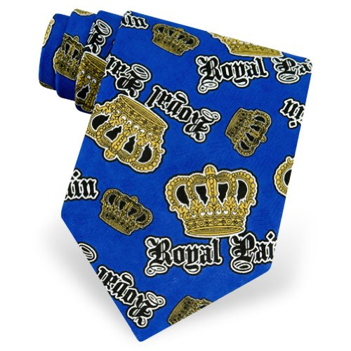 Men's Royal Pain Tie by Roberto Celini in Blue