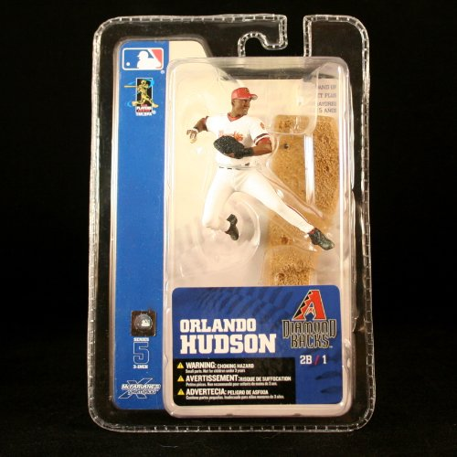 ORLANDO HUDSON / ARIZONA DIAMONDBACKS * 3 INCH * McFarlane's MLB Sports Picks Series 5 Mini Figure & Display Base