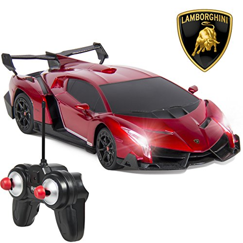 Best Choice Products 1/24 Officially Licensed RC Lamborghini Veneno Sport Racing Car W/ 27MHz Remote Controller (Racing Cars compare prices)