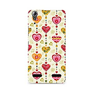 Mobicture Hearts Premium Printed Case For Lenovo A6000