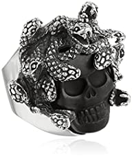 King Baby Medusa Skull with Carved Je…