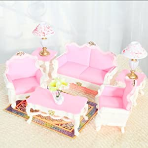 Barbie Doll Living Room Furniture Gift Set Doll Accessories Great Decoration In Real House
