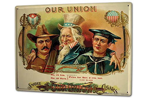 cartel-letrero-de-chapa-xxl-western-retro-america-nuestra-union