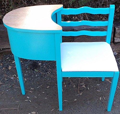 - Gossip Bench Antique Phone Table Desk Chair Aqua