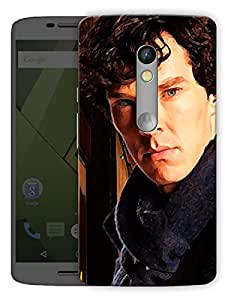 """Sherlock Cumberbatch Serious Printed Designer Mobile Back Cover For """"Motorola Moto X Play"""" By Humor Gang (3D, Matte Finish, Premium Quality, Protective Snap On Slim Hard Phone Case, Multi Color)"""