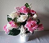 Pink Rose Table Centerpiece- Flower Arrangement - Wedding Decoration Sale