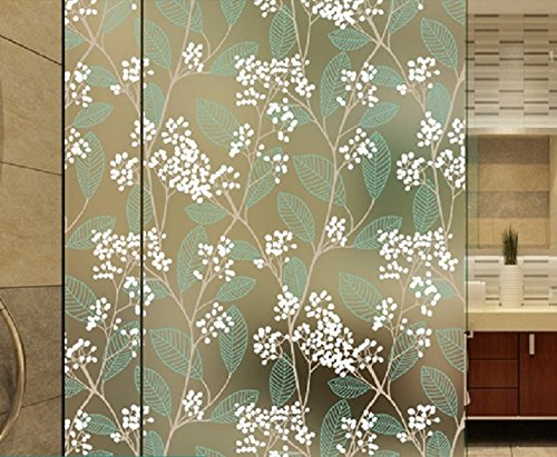 Beyong Life Green Leaves and Tree Branch Decorative Window Film 17.7 In. By 79 In. (Green)