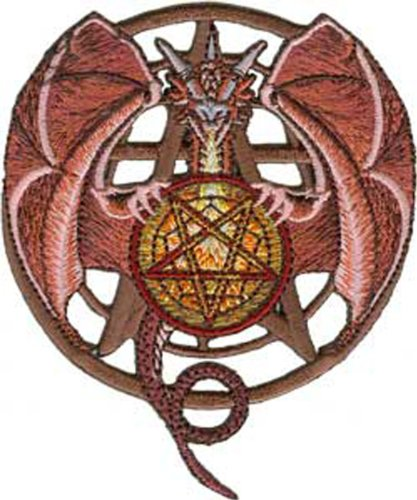 Application Red Dragon with Pentagram Patch