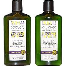 buy Andalou Naturals Lavender & Biotin Full Volume Shampoo & Conditioner Hair Loss Solution With Biotin Growth Serum, Aloe Vera Extract And Jojoba Oil For Men & Women, 11.5 Fl. Oz. Each
