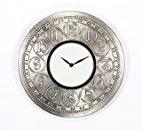 Home and Bazaar Traditional Rajasthani Wall Clock with Brass Embodded Number Finish 12