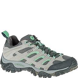 Merrell Women\'s Moab Waterproof Hiking Shoe, Drizzle/Mint, 6.5 W US