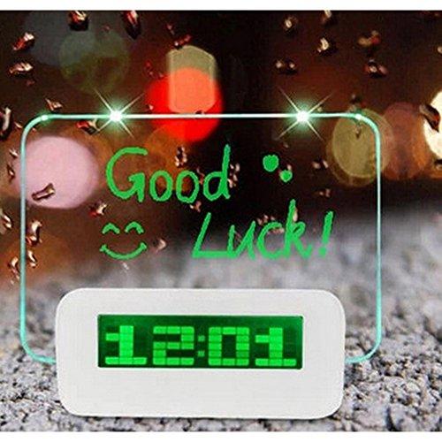Ieasycan LED Backlight Digital Alarm Clock Message Board Table Clock Watch Snooze Led Clock reloj despertador with Highlighter Home Decor (Up24 Warranty compare prices)