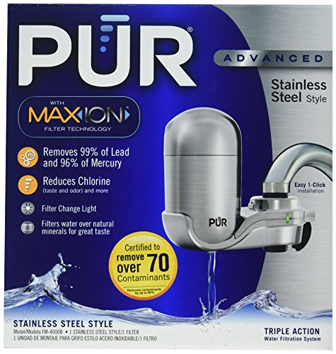 PUR Stainless Steel Style Faucet Mount & 1 Mineral Clear Filter (Stainless Steel Water Faucet compare prices)