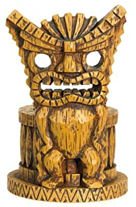 """Angry Tiki Votive Holder - Cold Cast Resin - 4.75"""" Height"""