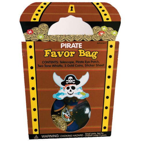 Pirate's Treasure Goody Bag with 7 Favors - 1