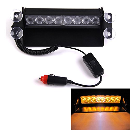 Vakind® Warning Caution Van Truck 8-Led Emergency Strobe Light Lamp Bar (Yellow)