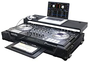 Odyssey FZGSPIDDJSZGTBL Black Label Pioneer DDJ-SZ Dj Controller Glide Style Case with Bottom Glide Tray