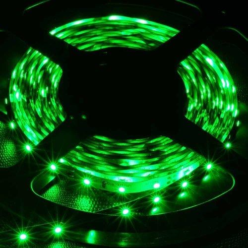 Supernight (Tm) Led Strip Light, Non Waterproof Led Flexible Light Strip 12V With 300 Smd Led, 5050 Green. 16.4 Foot / 5 Meter. front-374722