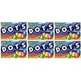 Tootsie Roll Industries Tropical Dots Gummy Candy Assorted Fruit Flavored Gumdrops 7.5 Ounce Boxes (Pack of 6)