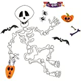 RoomMates PJ2002SCS Build A Skeleton Peel & Stick Halloween Wall Decal