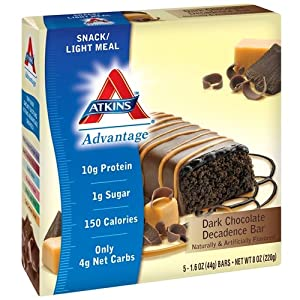 Atkins Advantage Bar Dark Chocolate Decadence -- 5 Bars by Atkins