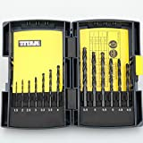 Coolshare 13 PCS HSS Drill Bits High-Speed Steel w/ Metal Case Metric Drill