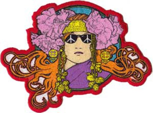 Application Bob Masse Hippie with Peace Sign Glasses Patch