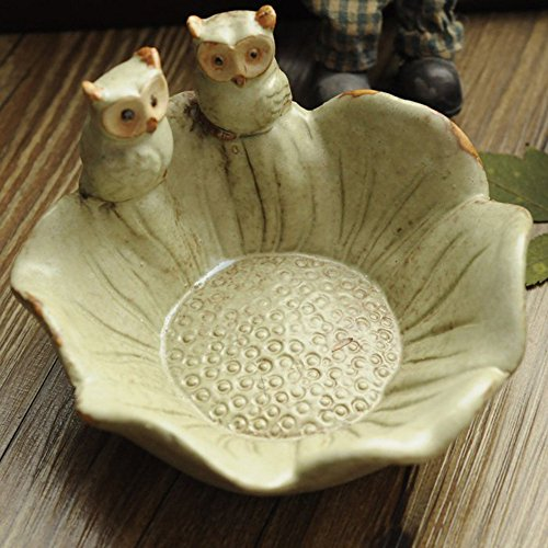XDOBO Owl Pattern Ashtray - for Home, Internet Cafes, Bars and Outdoor Use - Mobile Phone Holder, Key Holder, Coin Holders