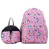 Beb� de dise�o de lunares de la capacidad de pa�al para quitarlo f�cilmente una bolsa de regalos bolsa de pa�ales + de la mochila de una mochila o bolso extra�as de la momia bolsa para la compra de cer�mica peque�a de la mochila de rosa
