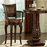 Antoinette Bar Height Chair in Multi-Step Rich Cherry [Set of 2]