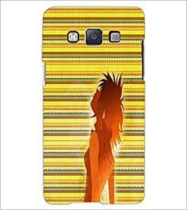 Printdhaba Girl Impression D-2997 Back Case Cover For Samsung Galaxy E5