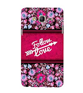 Follow Love 3D Hard Polycarbonate Designer Back Case Cover for Samsung Galaxy On5 Pro :: Samsung Galaxy ON 5 Pro